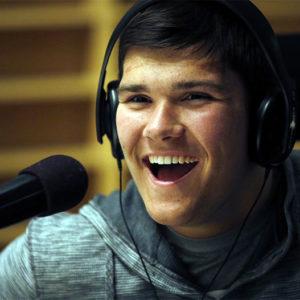 Jack Jablonski at radio studio